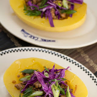 Sweet & Spicy Asian Pork-Stuffed Spaghetti Squash.