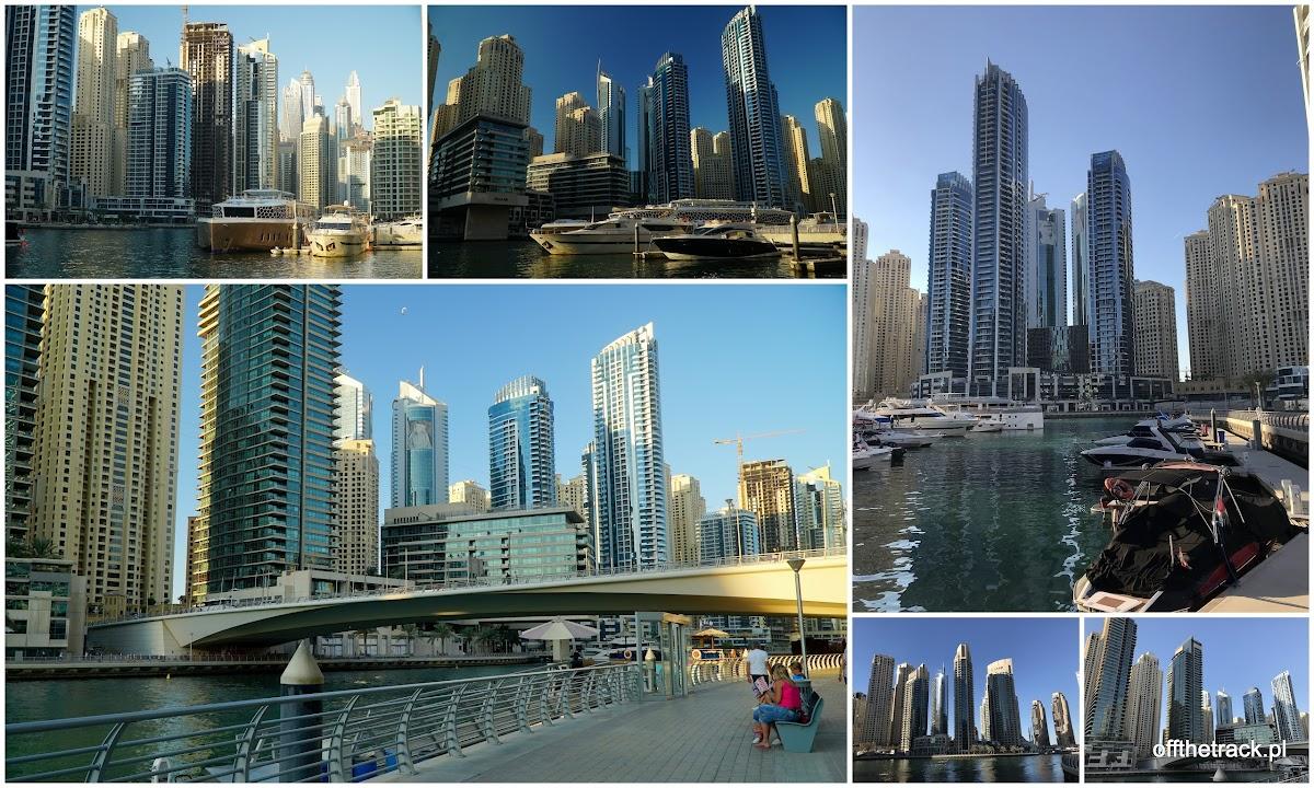 Deptaki na około zatoki Dubai Marina w Dubaju, Zjednoczone Emiraty Arabskie