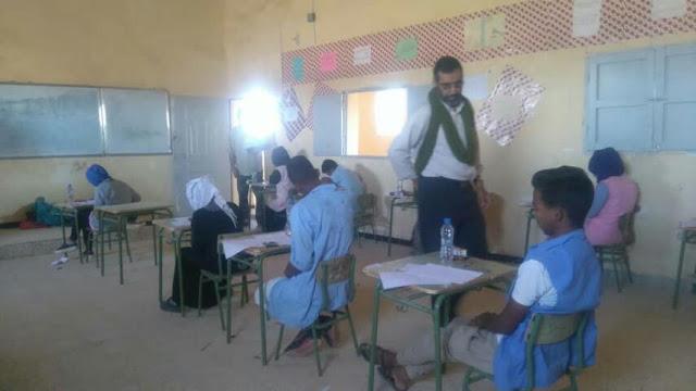 وزير التعليم والتربية يتفقد مراكز امتحانات الشهادة الابتدائية بولاية السمارة