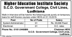 SCD Govt College Advertisement IndGovtJobs
