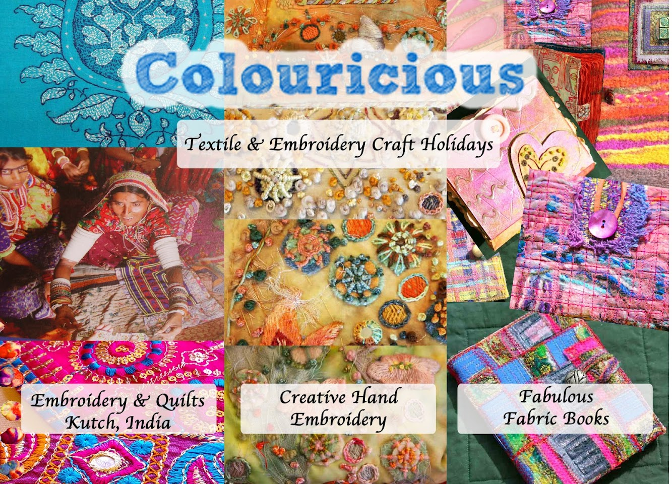 Textile Art - Craft Holiday with Colouricious