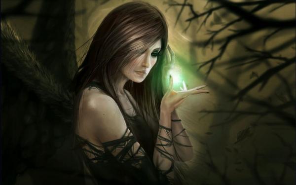Green Magic In Hands, Wicca Girls