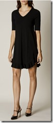 Karen Millen frill hem fine knit dress