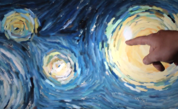 Starry Night Interactive Animation by Petros Vrellis