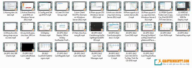 Bộ video học Windows Server 2012