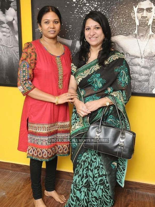 Chitra and Sujata at the launch of the fitness studio Body Shape in Chennai.