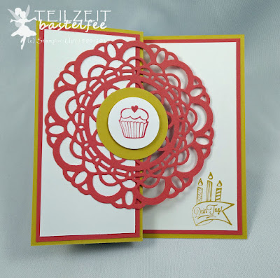 Stampin' Up! - Paper Players #256, Dein Tag, Großes Zierdeckchen, Z-Card, Large Paper Doily, Birthday, Geburtstag, Another Great Year