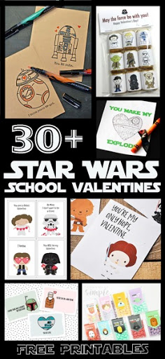 picture about Printable Star Wars Valentine named 30 Cost-free Printable Star Wars Valentines - The Kim 6 Restore