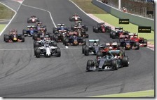 La partenza del gran premio di Spagna 2015