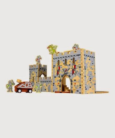 Boxset castle wooden playset