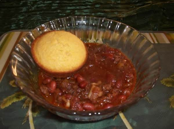 Chocolate Chili Con Carne Is The Best With Cornbread Muffin!