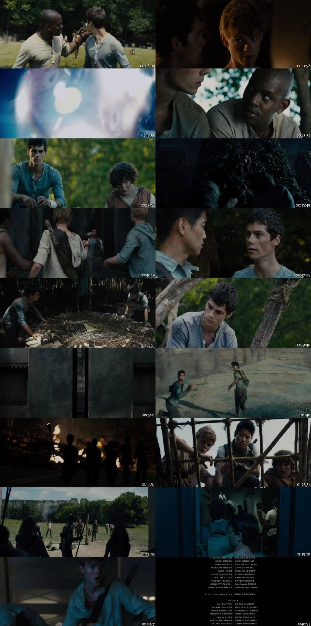 Screen Shot Of The Maze Runner 2014 300MB Full Movie Hindi Dubbed Free Download 480P BRRip Small Size PC Movie