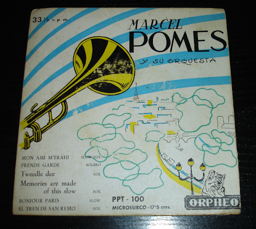 Marcel Pomes y su orquesta..single 33