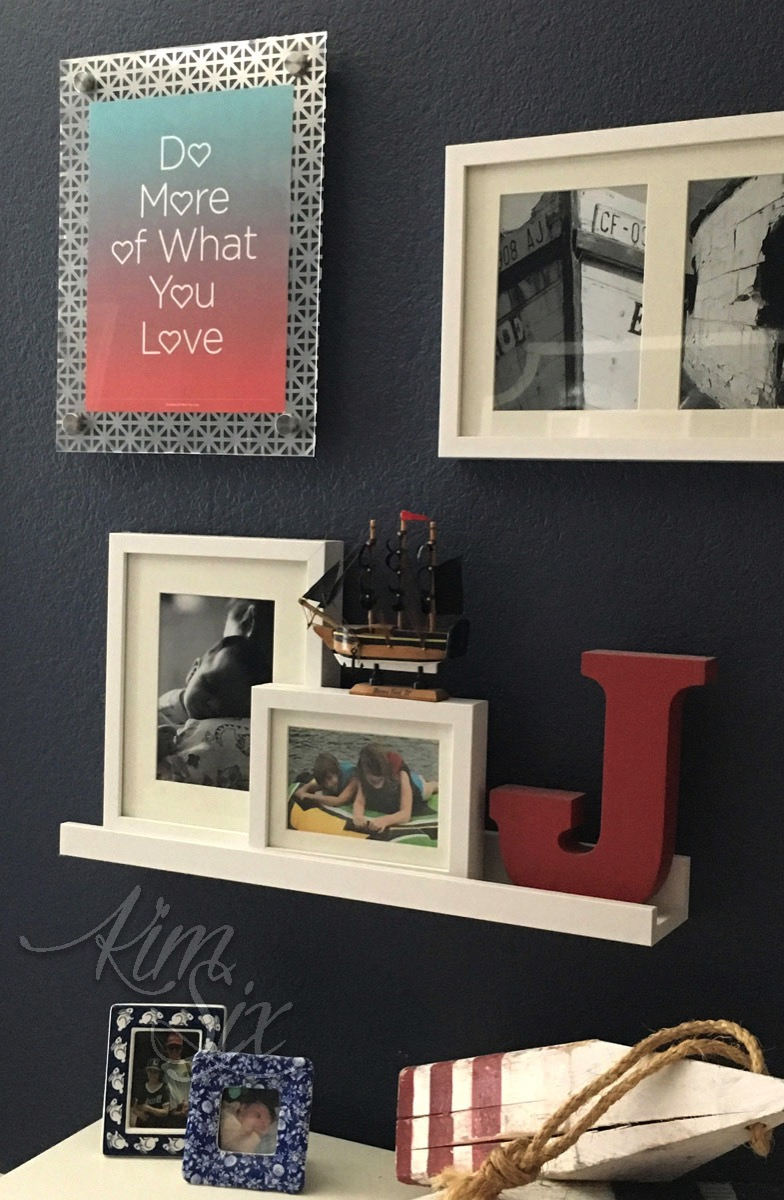 DIY industrial style floating frame