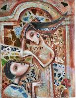 """Romeo and Juliet"" 20x24/ mosaic"
