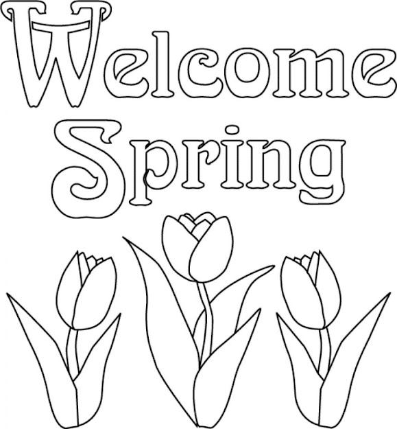 Spring Coloring Pages Wele Spring
