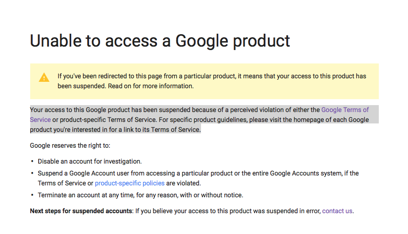 YouTube Channel/ Google+ Suspended For No Reason! - YouTube Help