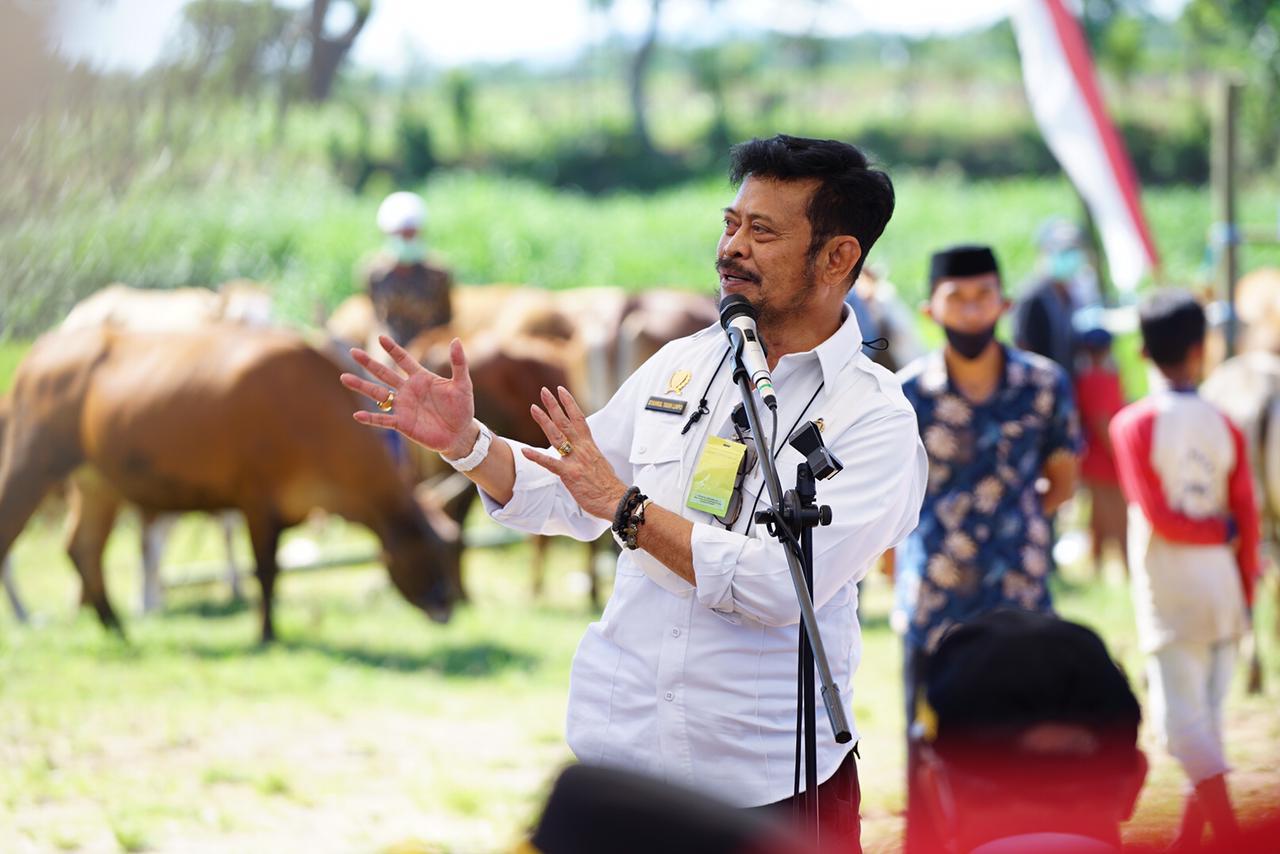 Mentan Syahrul Memberikan Dorongan Untuk Kabupaten Jeneponto Jadi Sentra Pertanian dan Peternakan Berkualitas