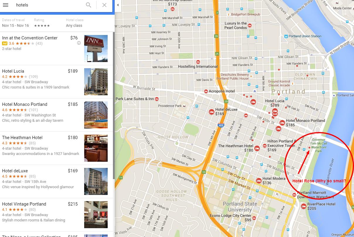 Hotel Search - Icon size/Hotel Label - Google Maps-Hilfe