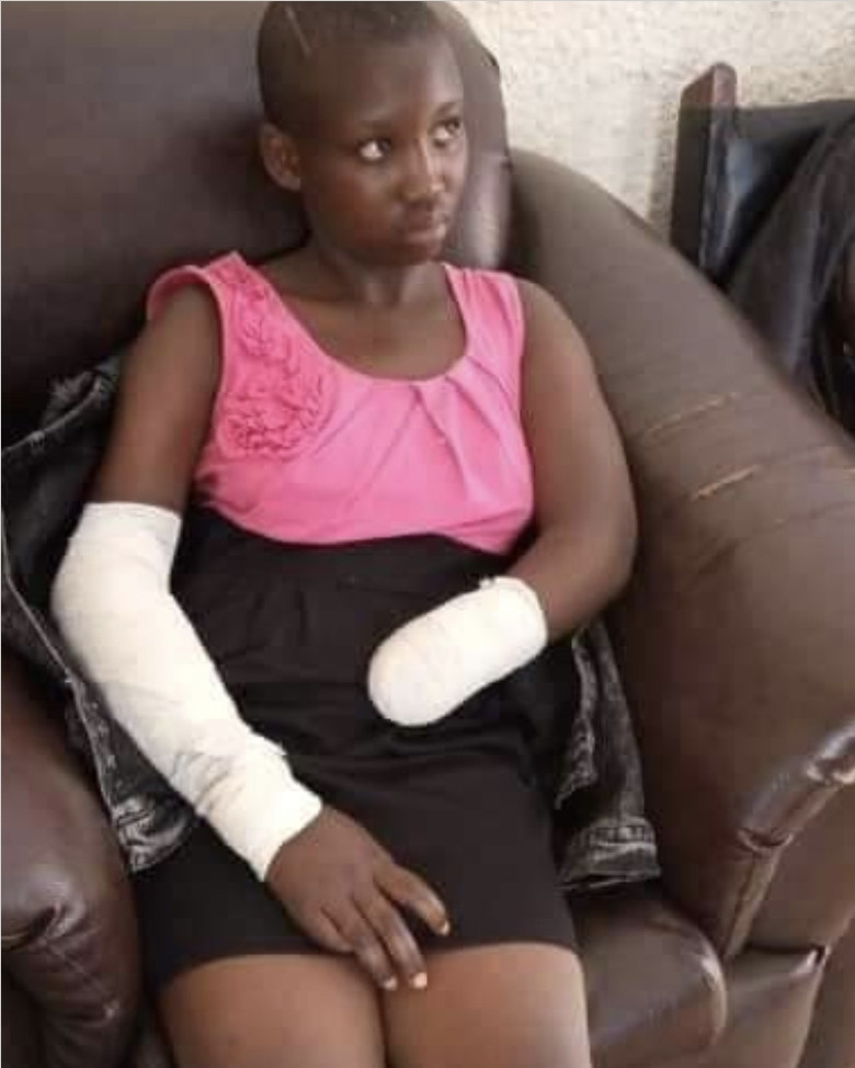 """""""He ordered me to undress and I refused"""" - 16-year-old student narrates how a man cut off her hand with machete for resisting rape attempt"""