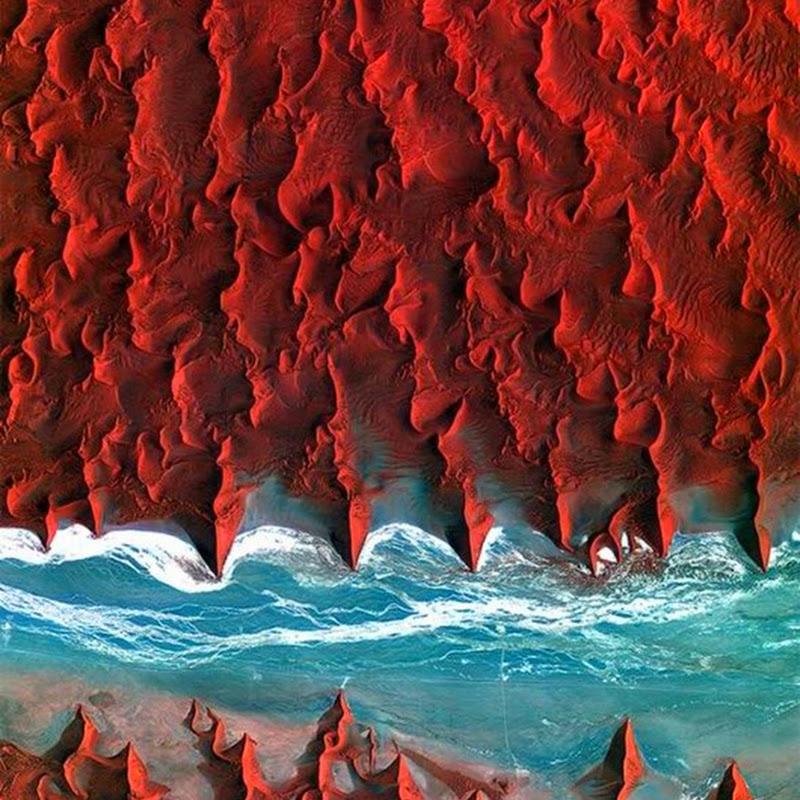 Земные пейзажи при взгляде из космоса