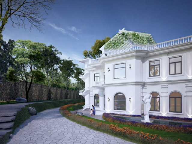 Mẫu thiết kế biệt thự mang đậm kiến trúc Châu Âu