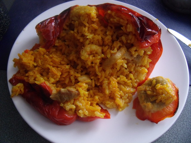 pimientos rellenos de arroz