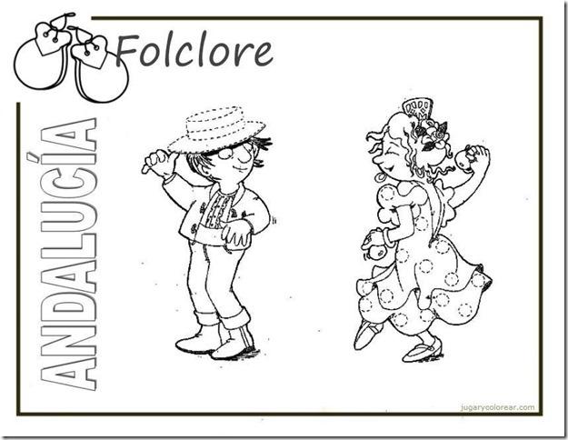 ANDAUCIA-folclore1 Dibujos del Día de la Comunidad Autónoma de Andalucía para pintar