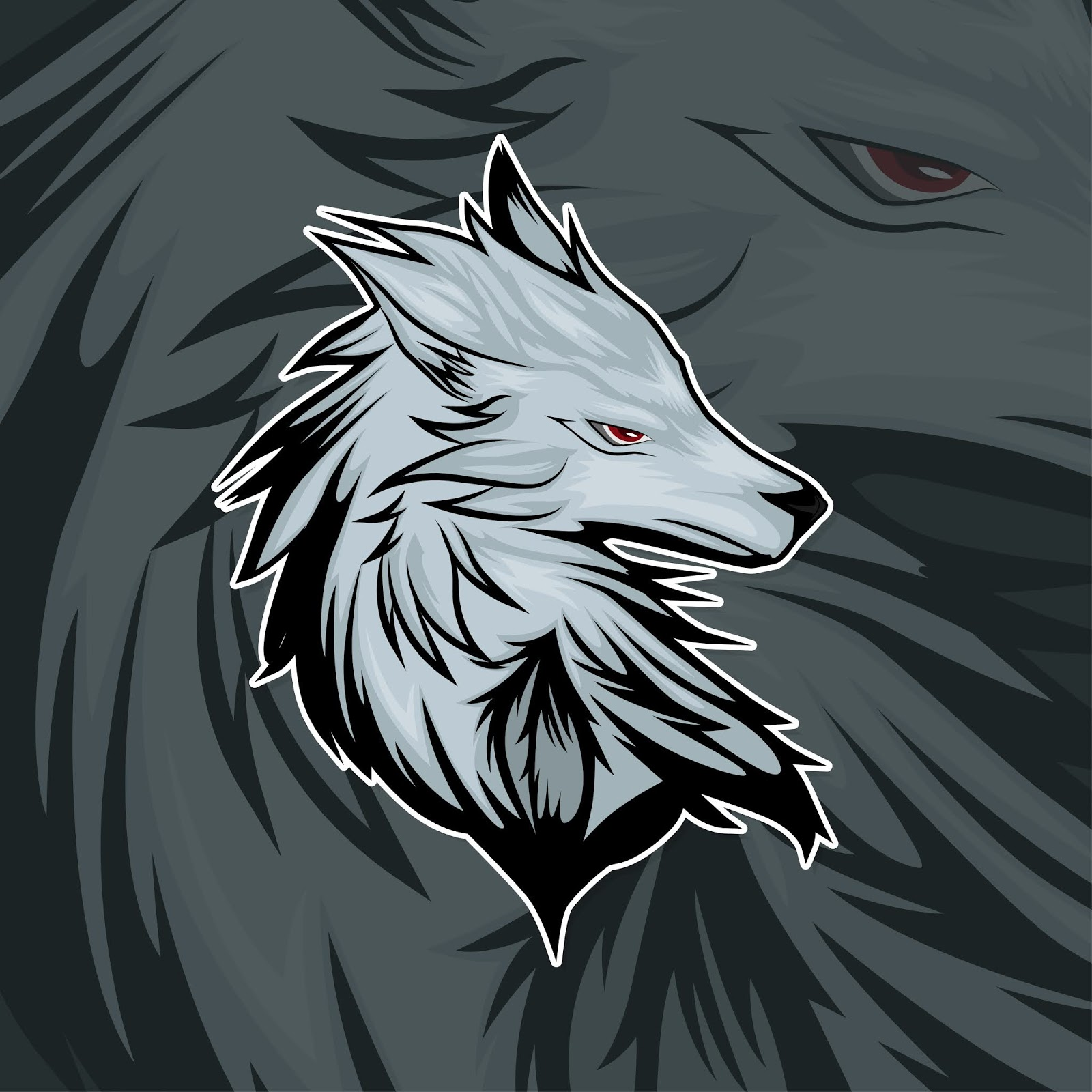 Esport Gamer Logo Wolf Free Download Vector CDR, AI, EPS and PNG Formats
