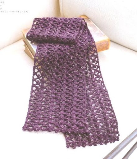 Crochet Knitting Handicraft: Crochet Scarf