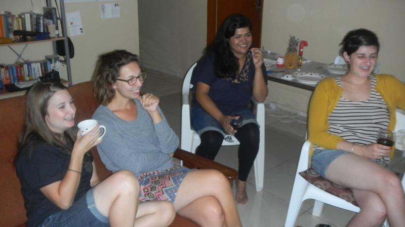 Diana, Britt, Dinah, VA, Christmas Mochudi 2011
