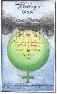 From J P Maul Grundliche Beschreibung Des Hochsten Kleinods Der Welt Gotha 1714, Alchemical And Hermetic Emblems 2