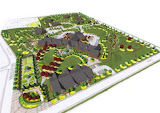 Birdseye of overall site plan, Andrew Aidt, AICP, City of Kettering
