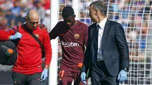 Barcelona star Dembele ruled out for up to four months