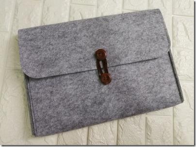 felt laptop bag, a gift from Watsons