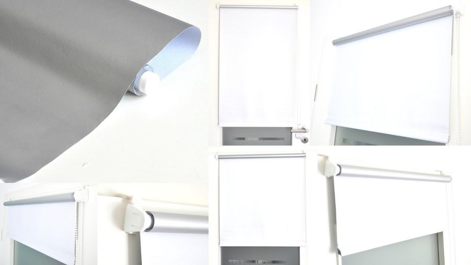 verdunkelungs thermo rollo fenster t r klemm fix tr ger ohne bohren seitenzug ebay. Black Bedroom Furniture Sets. Home Design Ideas