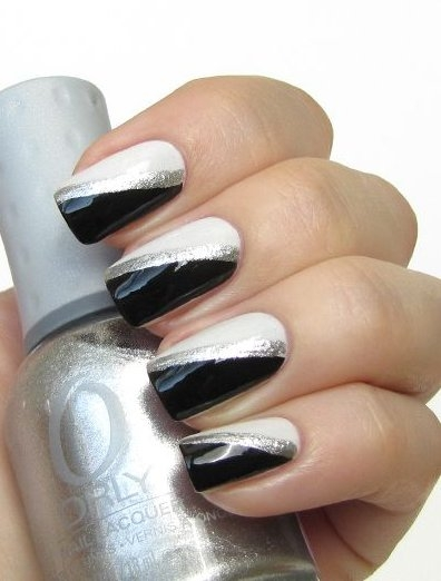Silver and white glamour nail art designs 2016 fashionte silver and white glamour nail art designs 2016 prinsesfo Image collections