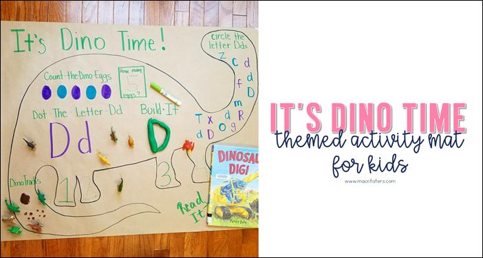 Dinosaur Activity Mat for Kids