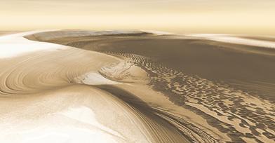 calotas polares de Marte