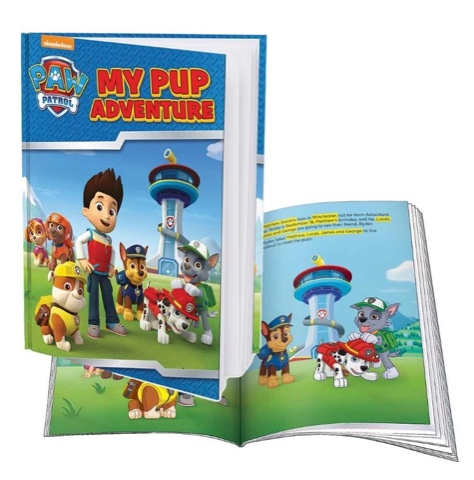 paw patrol custom book