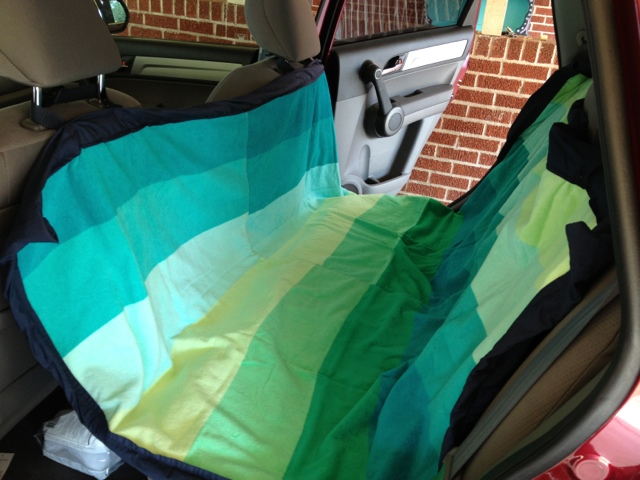 the bird and the bicycle sewing tutorial dog car seat cover. Black Bedroom Furniture Sets. Home Design Ideas