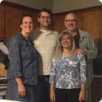 With Mom & Dad Hamilton