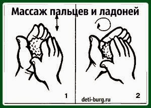 массаж пальцев и ладоней