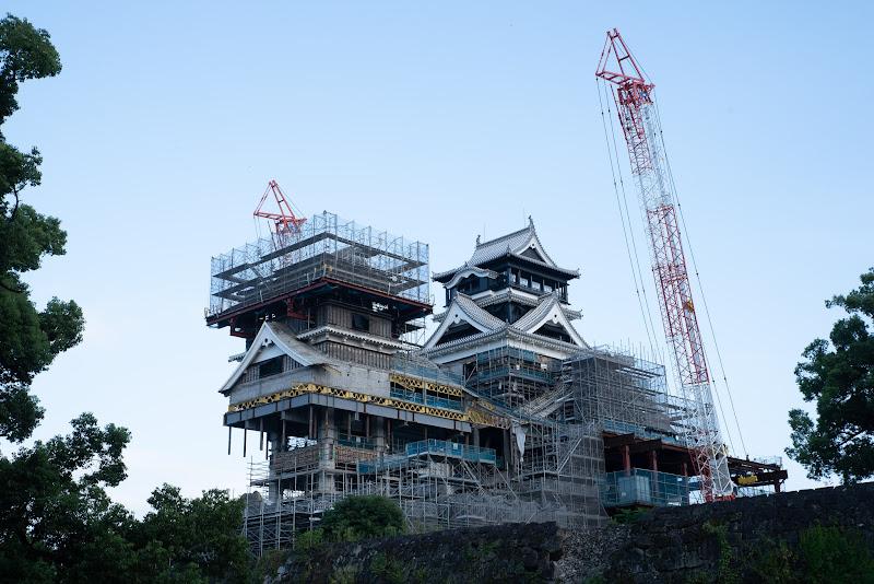 180915 加藤神社から見た熊本城天守