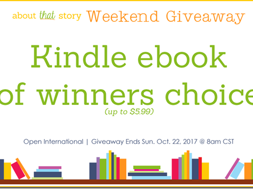 Weekend Giveaway: Kindle ebook of Winners Choice!
