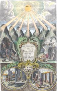 Frontispiece From Lazarus Ercker Aula Subterranea 1672, Alchemical And Hermetic Emblems 1