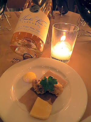 A Grand Feast of Oregon, by Hawks View Cellars and Irving St Kitchen: Pairing 2 of Chicken Fried Oysters, Herbsaint Aioli, and Hawks View Mystery Wine... revealed to be 2012 White Pinot Noir