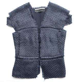 Roland Mouret Woven Navy Blue Vest