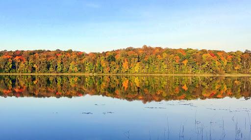 Morning scene on Little Sugarbush, lake Maplelag is next to. September 11th, 2017