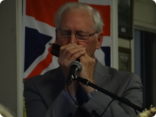 David Clews played his harmonica